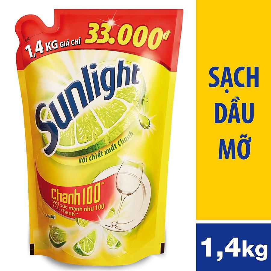 Nước rửa chén Sunlight Chanh túi 1.4kg (MSP 67033503)
