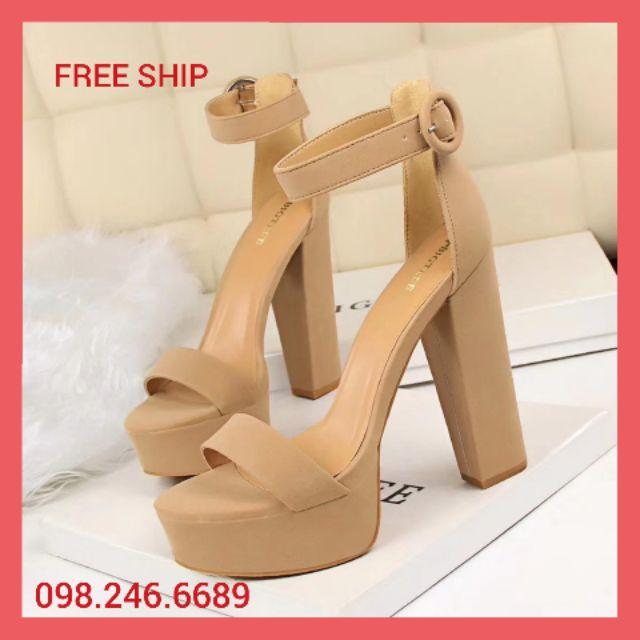 [Mã WSTOPT9 hoàn 30K xu đơn từ 150K] (Giá tốt nhất)giày cao gót chính hãng bigtree (cao 13,5 cm siêu dễ đi)