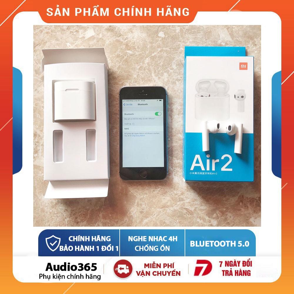 Tai Nghe bluetooth 5.0 Air 2 TWS Tự Động Kết Nối, Siêu Nhẹ, Dùng Cho Cả Android & IOS - Nghe nhạc 4h
