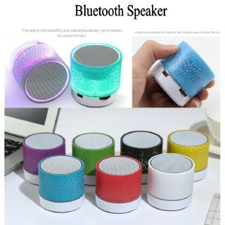 【P&T】(Loa di động)Luminous Lights Rechargeable Wireless Bluetooth Speaker Portable Mini Super Bass Audio Speaker