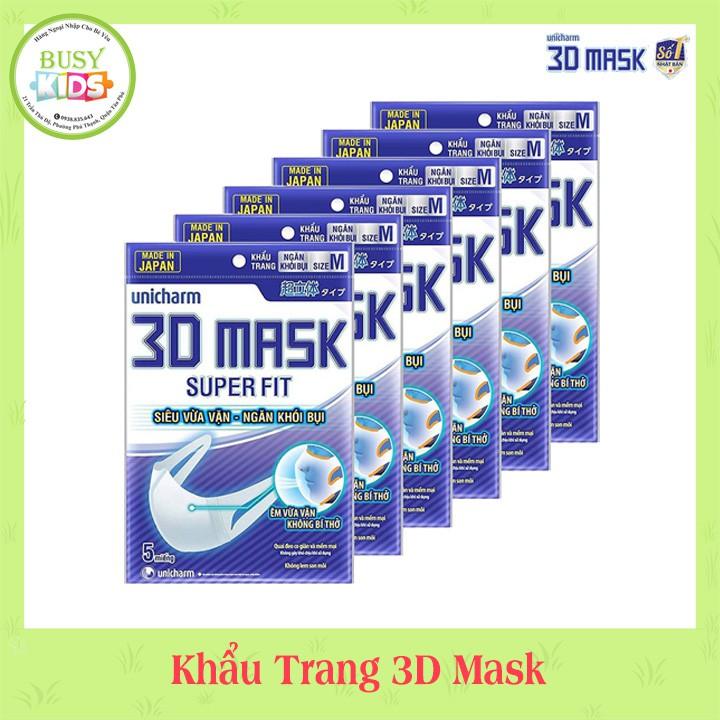 Khẩu Trang Ngăn Khói Bụi Unicharm 3D Mask Super