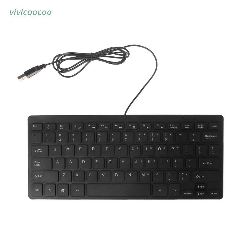 (Hàng Mới Về) Bàn Phím Mini Có Dây 104 Phím Siêu Mỏng Không Gây Tiếng Ồn Cho Laptop / Bàn Phím