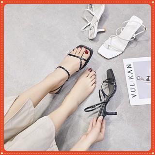 Giày Sandal Nữ Cao Gót nhọn 7p Quai mảnh Xỏ Ngón ( kèm ảnh thật) MYSEO hàng có sẵn hàng có sẵn