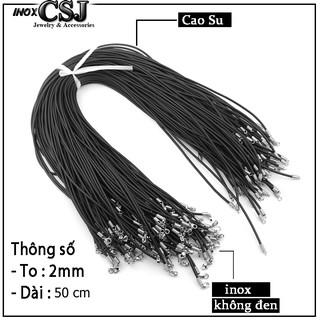 Combo 10 dây chuyền kỉ niệm tập thể cao su 2 ly khóa inox không đen rẻ đẹp mà chất thumbnail