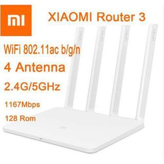 Bộ phát wifi router wifi Xiaomi Gen 3 Tiếng Việt chuẩn AC1200 gigabit 4 anten tặng kèm cáp mạng