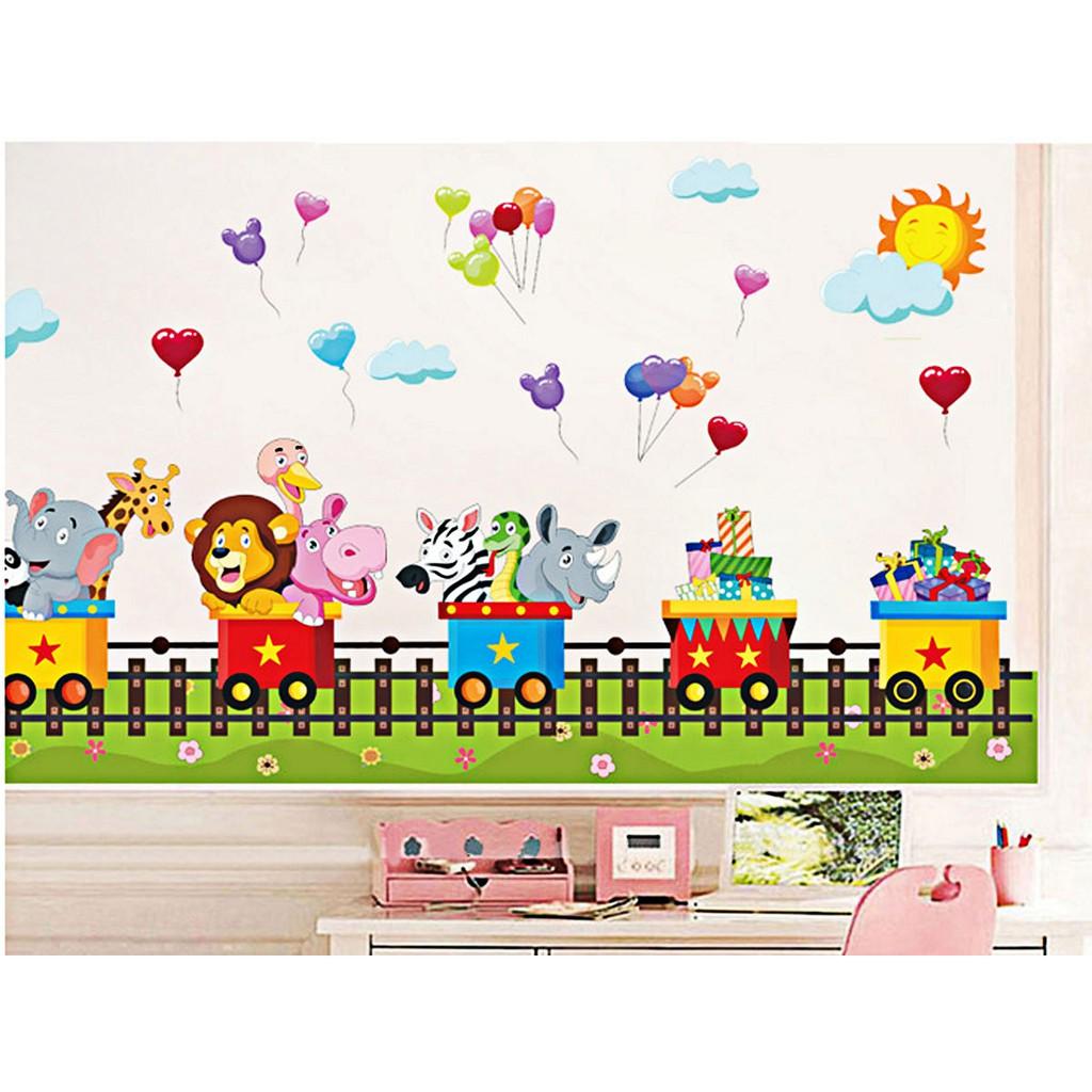 Decal dán tường LUVINA trang trí phòng cho bé yêu - đoàn tàu thú du lịch bóng bay - 14770093 , 2180919392 , 322_2180919392 , 50000 , Decal-dan-tuong-LUVINA-trang-tri-phong-cho-be-yeu-doan-tau-thu-du-lich-bong-bay-322_2180919392 , shopee.vn , Decal dán tường LUVINA trang trí phòng cho bé yêu - đoàn tàu thú du lịch bóng bay