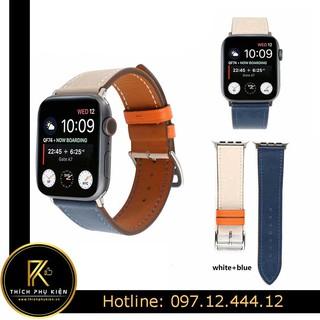 Dây da Apple Watch 2 Màu LOẠI VIP (Đồng Hồ Apple Watch) - Tặng kèm vít mở thumbnail