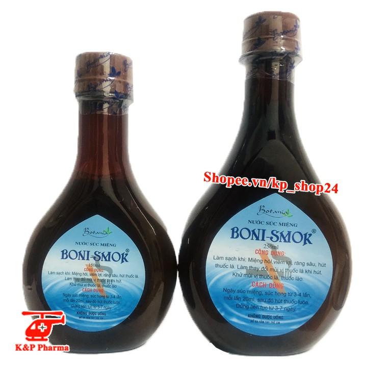 ✅ (CHÍNH HÃNG) Nước Súc Miệng Boni-SMok – Làm thay đổi mùi vị thuốc lá, giúp sớm bỏ thuốc lá, cai thuốc lá - BoniSmok