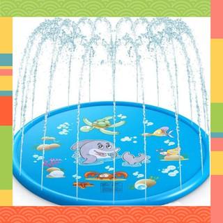 (Loại Tốt) Tấm đệm phun nước cho bé 1.7m–Đồ Chơi Nhà Tắm Cho Bé 9383 (Giá Rẻ )