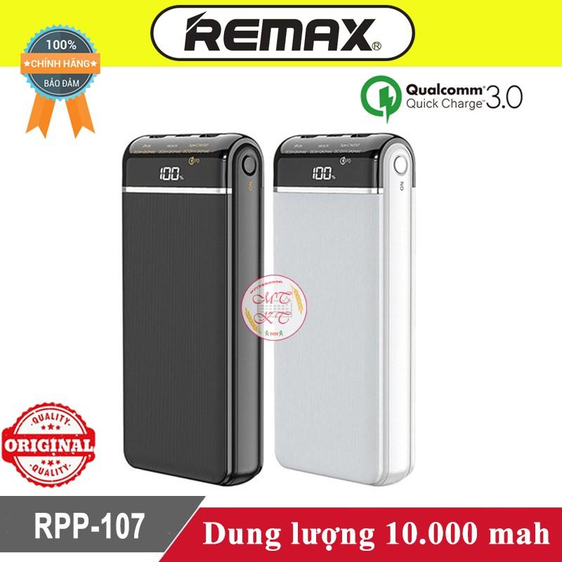Sạc dự phòng Remax RPP-107 10.000mah ♥️Freeship♥️ Pin sạc dự phòng Remax Sạc nhanh 3.0
