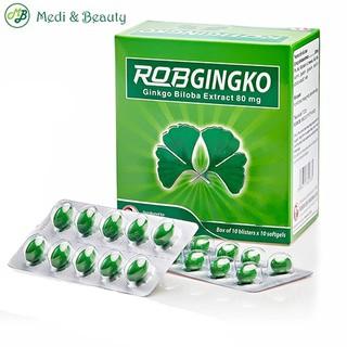 Viên uống hoạt huyết dưỡng não, bổ não, thiếu máu não - RobGingko - MediBeauty - Robinson Pharma USA - Hộp 100 viên thumbnail