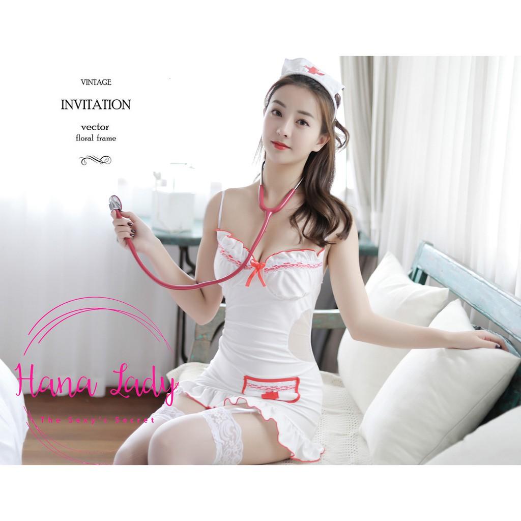 Mặc gì đẹp: Độc đáo với Cosplay y tá liền thân, Đồ ngủ cosplay sexy y tá quyến rũ, Đồ Ngủ Sexy CP118