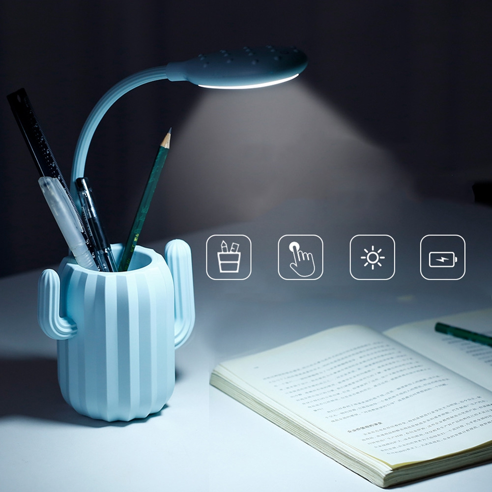 Cactus Eye Protection Touch Control Adjustable Table Lamp Flexible Multipurpose Led Reading Light USB Charging