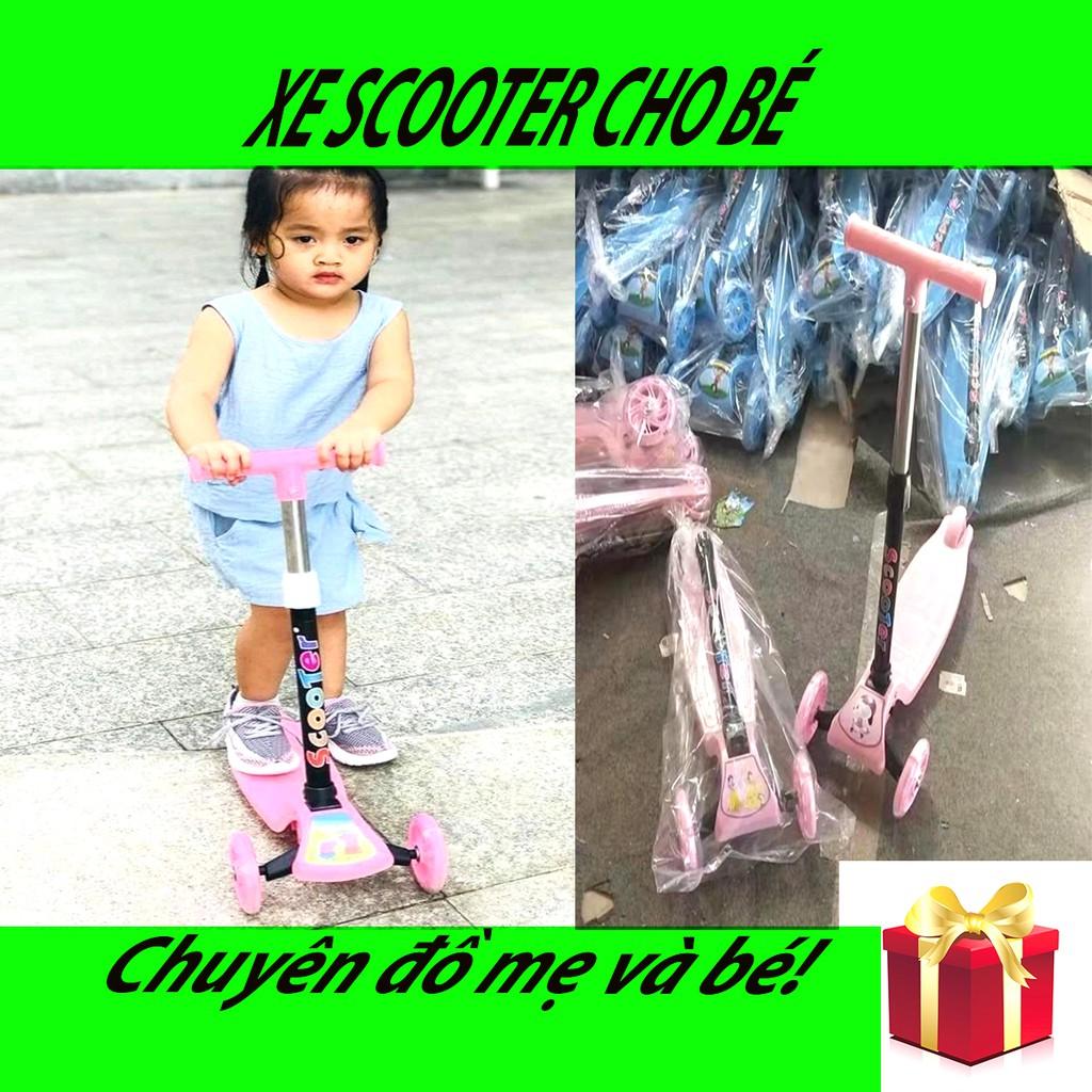 Xe trượt scooter cho bé thoải mái hoạt động ngoài trời, xe thể thao cho trẻ em chắc chắn với 3 bánh xe an toàn cho bé