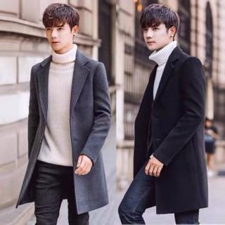 [Hàng sẵn Form Rộng] Áo Khoác Dạ nam dáng dài, Áo dạ nam phong cách Hàn Quốc – AKD05