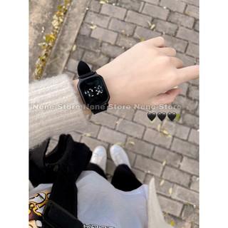 Đồng hồ nam nữ MBLACK dây nhựa CẢM ỨNG kiểu dáng dễ thương nhiều màu