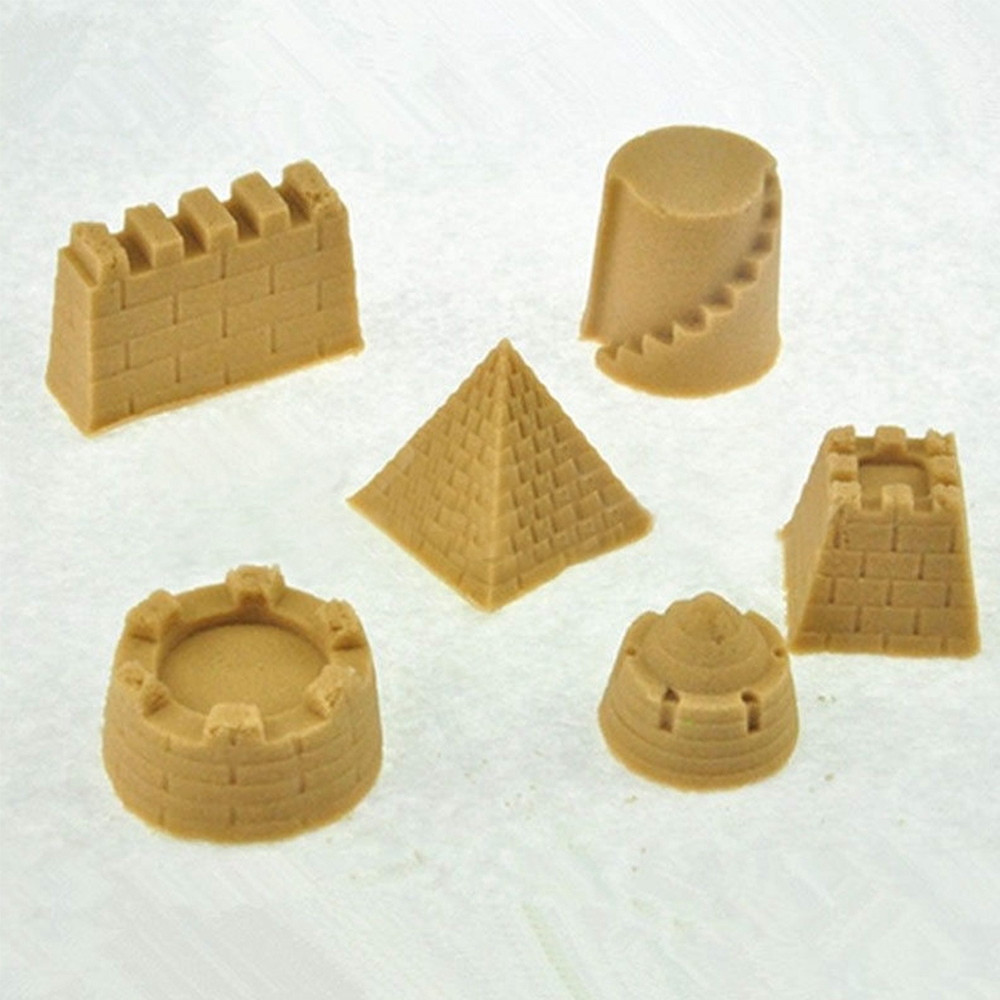 Fantastic 6pcs Castle Sand Toys Pyramid Sandcastle Beach Outdoors New