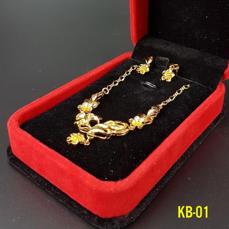 Kiềng bộ và hoa tai dát vàng 24k-KB01 - 2489618 , 125367202 , 322_125367202 , 299000 , Kieng-bo-va-hoa-tai-dat-vang-24k-KB01-322_125367202 , shopee.vn , Kiềng bộ và hoa tai dát vàng 24k-KB01