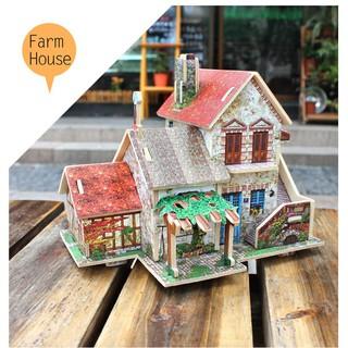 Hàng Mới Mô hình nhà gỗ lắp ghép theo khớp Farm House F124 Robotime