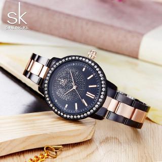 Đồng hồ Shengke nữ đính đá phong cách chất lượng cao độc đáo