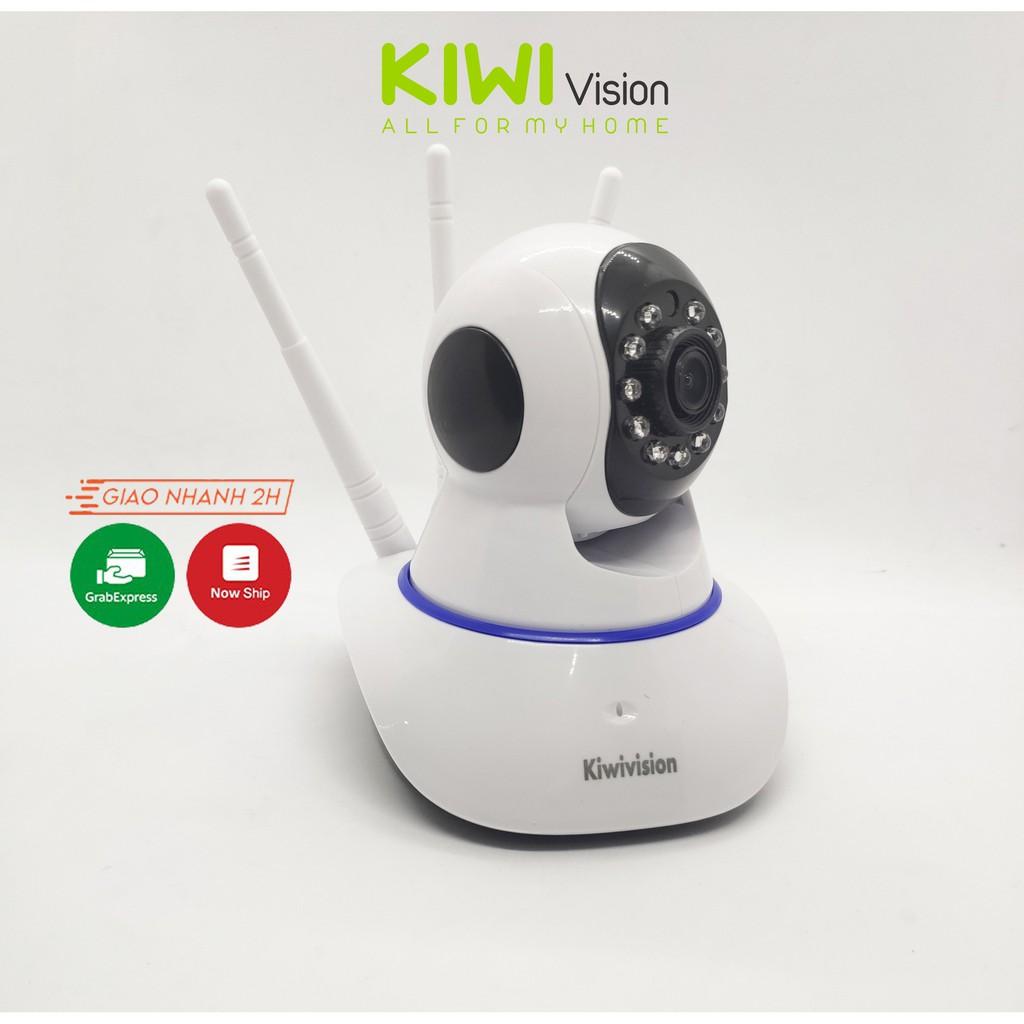 Camera IP Wifi 3 Râu Kiwivision sắc nét đàm thoại 2 chiều giám sát an ninh ngày đêm tặng thẻ nhớ 32G