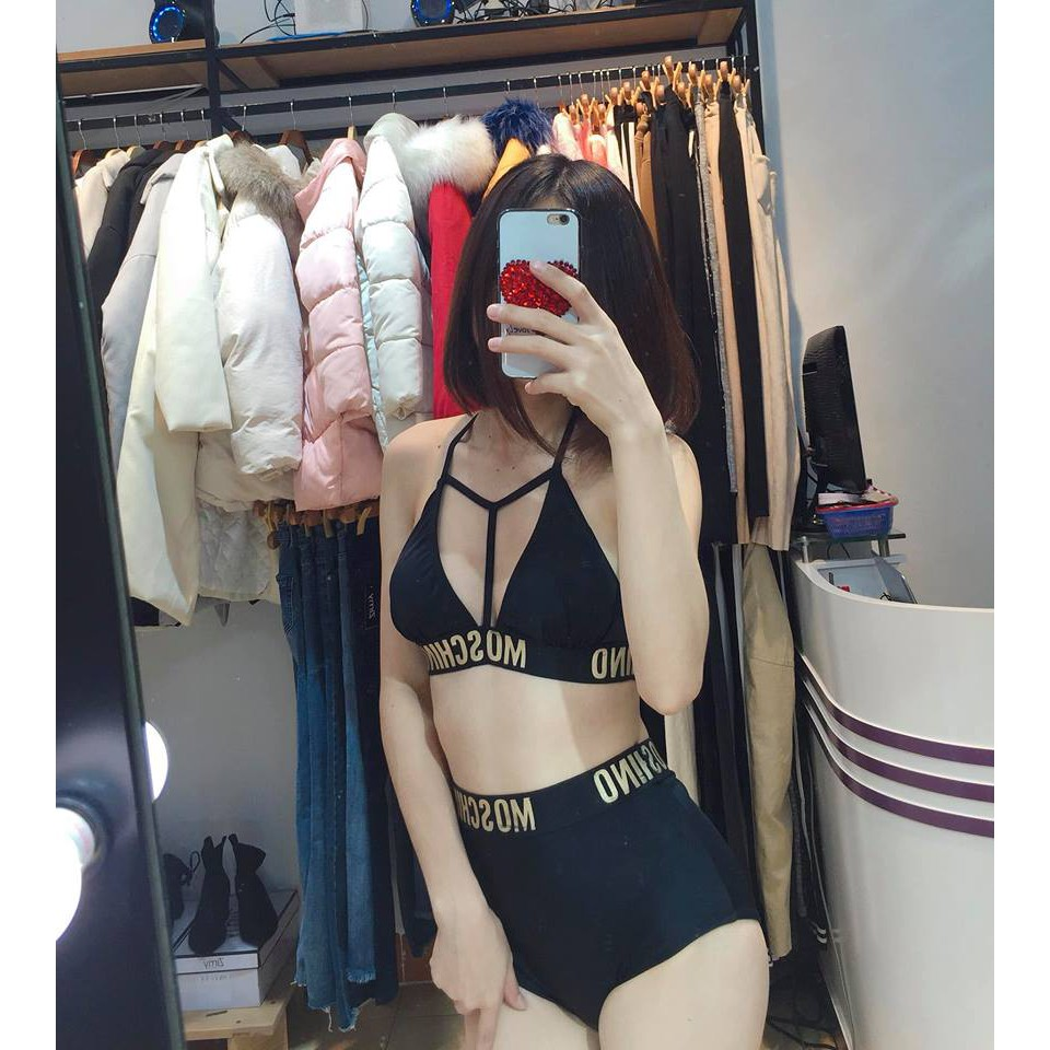 Bikini 2 mảnh đen sexy mặc đi biển đi bơi đẹp | SaleOff247