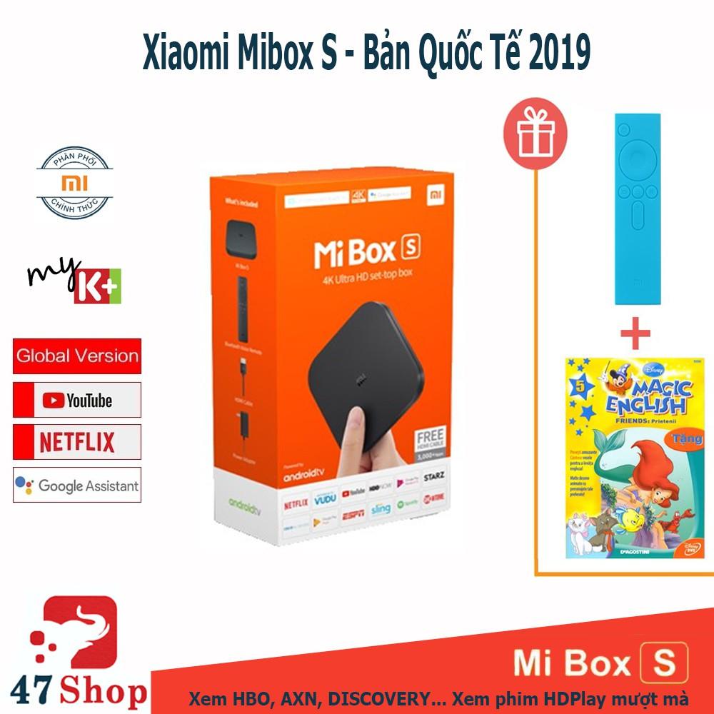 Android Tivi Box Xiaomi Mibox S set-top box Global Quốc Tế Tiếng Việt - Chính hãng DiGiWorld phân phối