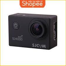 [Siêu Khuyến Mãi] Camera hành trình xe máy SJ4000 12MP Full HD Wifi (Đen) - Hãng Phân Phối Chính Thức