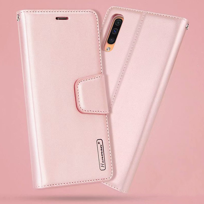 Bao da nắp gập màu trơn cho Samsung Galaxy A50 A30 A20 M20 M10 A10 Note 9 Note 8 Note 5 S7 S7 Edge S8 S9 S8+ S9+