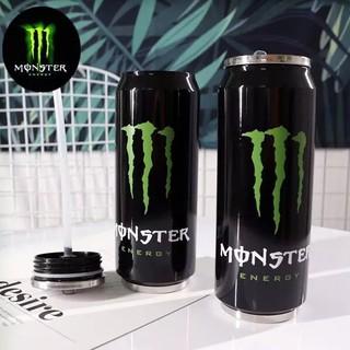 FREESHIP ĐƠN 50K_Lon giữ nhiệt Monster 500ml (tặng kèm ống hút) thumbnail