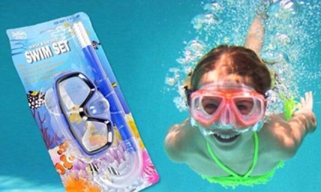 Kính bơi có ống thở cho bé