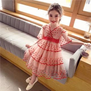 Đầm ren đỏ cho bé (17-35kg) N00513
