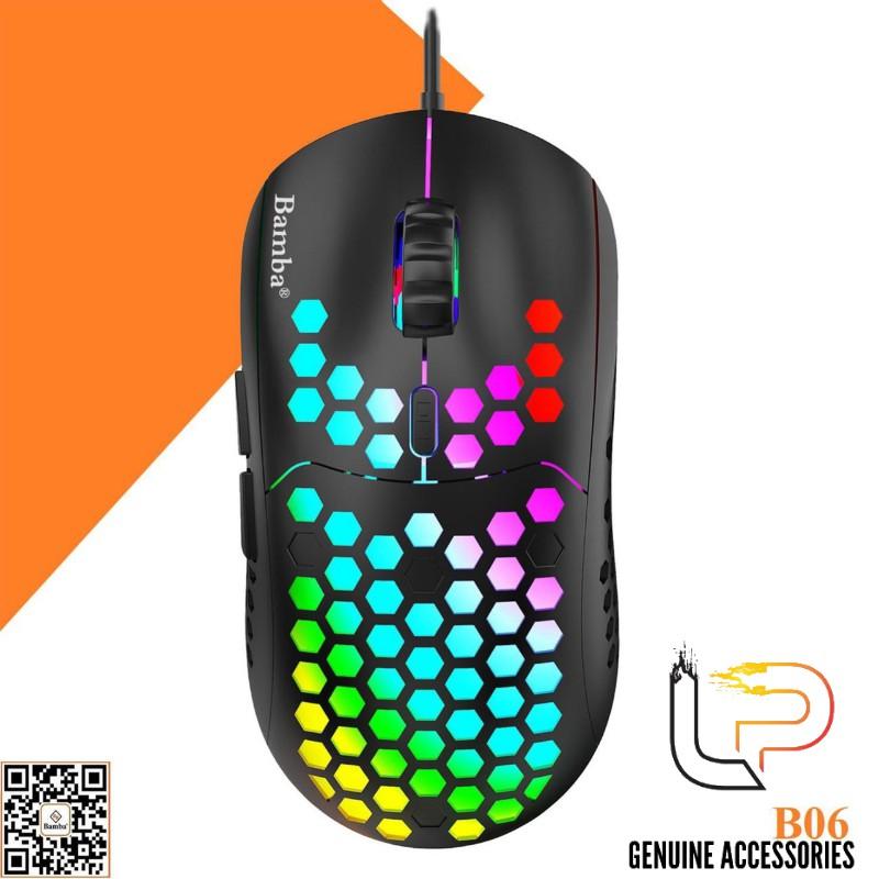 CHUỘT CHƠI GAME BAMBA B06 - MOUSE BAMBA B06 (MÀU ĐEN) CHUYÊN GAME LED RGB