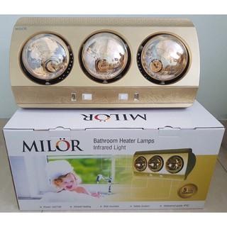 Đèn sưởi 3 bóng Milor ML 6003 , bảo hành 5 năm chính hãng (không phải hàng Móng Cái)