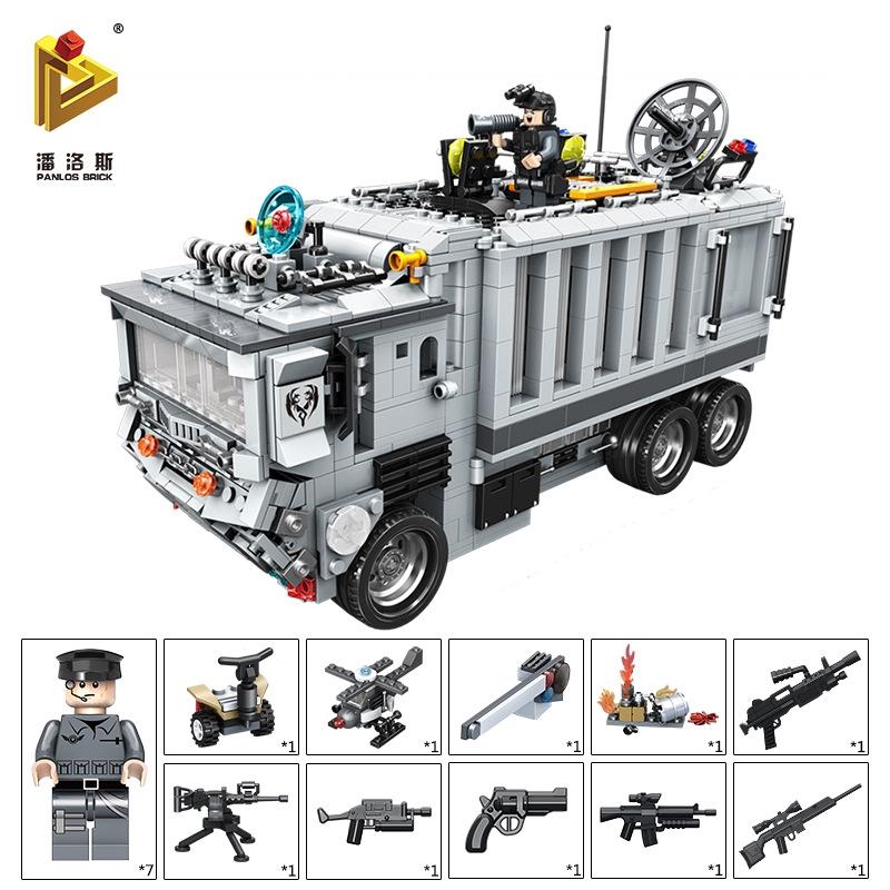 bộ đồ chơi lắp ráp xe cảnh sát cho bé