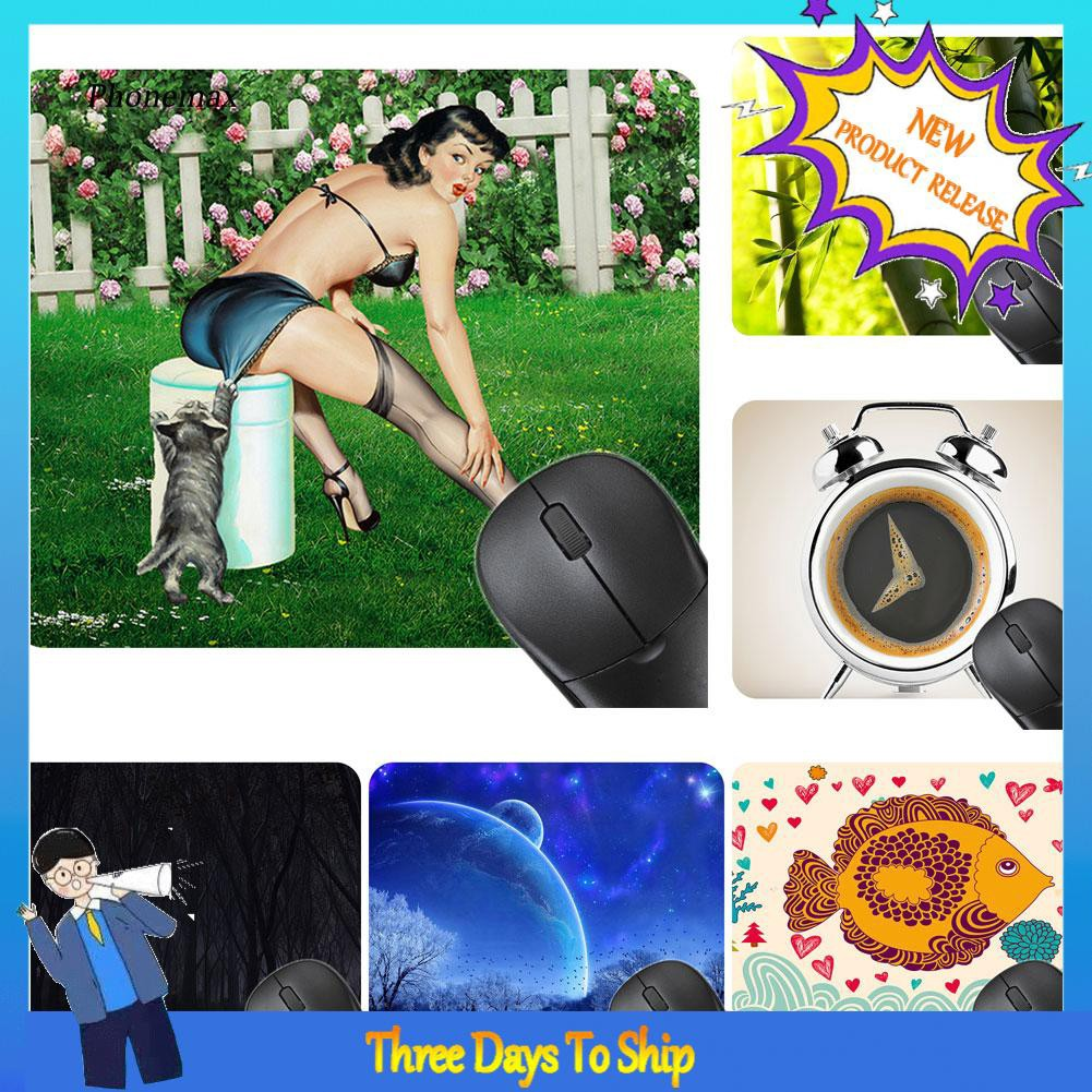 Phone-Fashion Thicken Rubber Non-Slip Fish Sunflower Laptop Computer Gaming Mouse Pad
