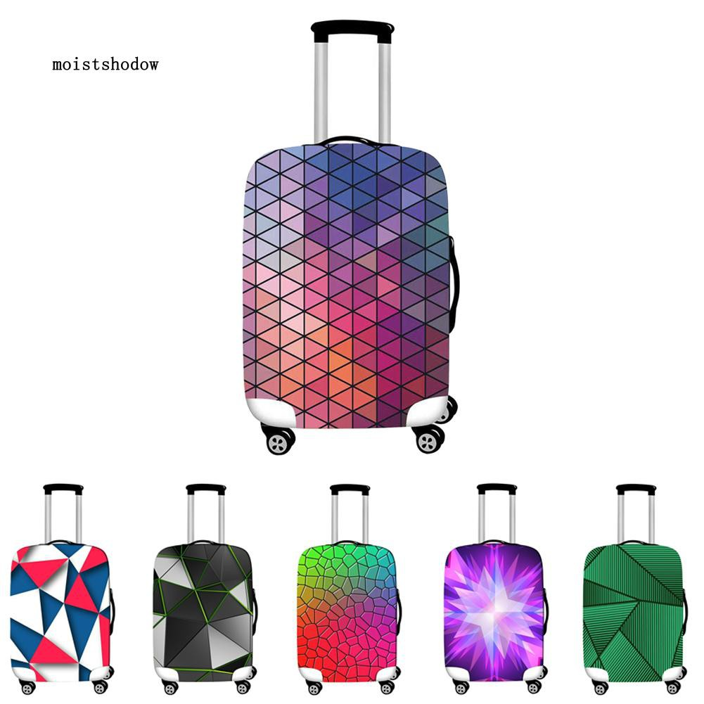 Geometric Travel Bag Cover Suitcase Protector Portable Luggage Case Decoration