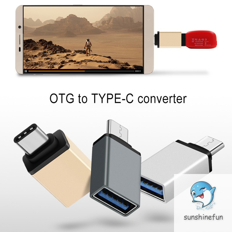 Type-C to USB 3.0 OTG Cable Adapter Type C Converter for Samsung Huawei P20 OTG Adapter