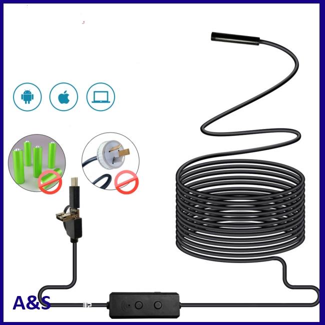 3 in 1 WIFI Endoscope Camera Mini Waterproof Hard Cable Inspection Camera USB Endoscope Borescope