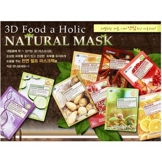 Mặt nạ 3D Foodaholic Mask dưỡng da Hàn Quốc (lẻ 1 miếng 12 mùi để chọn) thumbnail