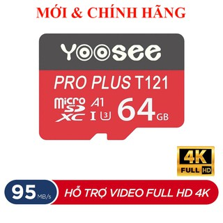 [Mã ELFLASH5 giảm 20K đơn 50K] Thẻ Nhớ Yoosee Pro Plus 32GB 64GB A1 U3 4K R95MB/s W45MB/s