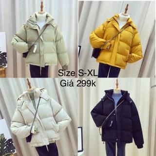 [ Sale ] áo phao trần bông dáng ngắn siêu ấm [ Hàng order ] có size