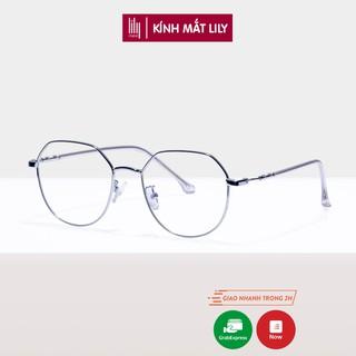 Gọng kính cận nữ kim loại Lilyeyewear mắt tròn thanh mảnh nhẹ nhàng màu sắc thời trang 29100
