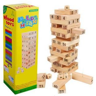 Bộ đồ chơi rút gỗ loại lớn 48 thanh