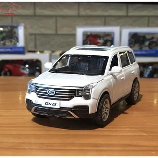 Mô hình xe ô tô Trumpchi GS8 tỉ lệ 1/32 màu trắng hàng Quảng Châu