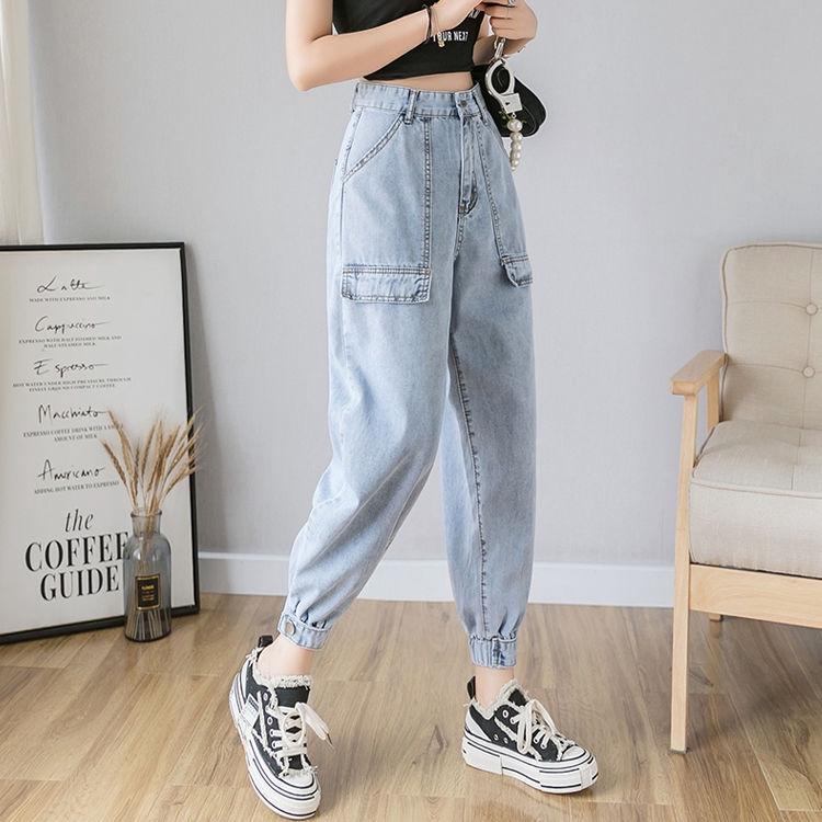 quần jeans nữ ống rộng kiểu hàn quốc
