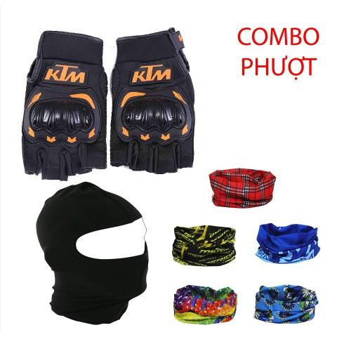 COMBO PHƯỢT ( găng ngắn ngón KTM + khăn đa năng + khăn trùm đầu ninja) - 21790204 , 2861455974 , 322_2861455974 , 120000 , COMBO-PHUOT-gang-ngan-ngon-KTM-khan-da-nang-khan-trum-dau-ninja-322_2861455974 , shopee.vn , COMBO PHƯỢT ( găng ngắn ngón KTM + khăn đa năng + khăn trùm đầu ninja)
