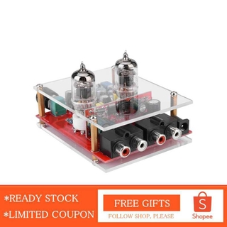 Alwaysonline 6J1 DC 12V Valve Preamp Tube Board Headphone Amplifier Acrylic DIY