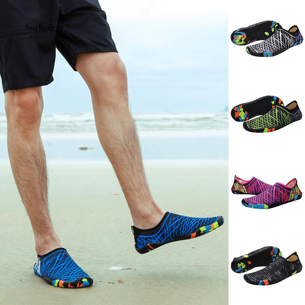 🌱BUBU_Outdoor Lightweight Quick-Dry Snorkeling Swimming Yoga Stripes Skin Water Shoes