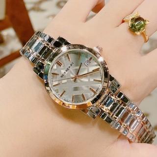 Đồng hồ nữ burberry dây kim loại không gỉ, hàng full box, thẻ bảo hành 12 tháng - Dongho.burberry (Đồng hồ thời trang n thumbnail